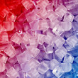 Stock Photo: Red blue ice cubes