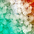 Green white red ice cubes — ストック写真