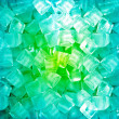 Green blue ice cubes — Stock Photo