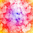 Yellow red  white ice cubes — Stock Photo