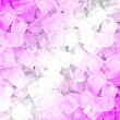 Pink white ice cubes — ストック写真