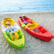 Canoes on the beach. — Stock Photo