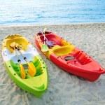Canoes on the beach. — Stock Photo