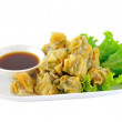 Dumplings on white plate — Stock Photo