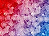 Cubes de glace bleu rouge — Photo