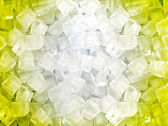 Yellow white ice cubes — Stock Photo