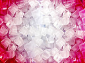 Red white ice cubes — Stock Photo
