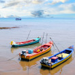 Small fishing boats on the beach — Stock Photo