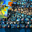 Television and internet production .technology and business conc — Stock Photo #29536745