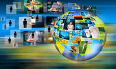 World business and Technology — Stock Photo