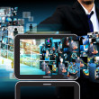 Businessman Contact Television and internet production .technolo — Stock Photo #30616111