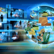 Television and internet production .technology and business conc — Stock Photo #30616185