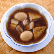 Stock Photo: Braised Pork Belly With Egg And Tofu