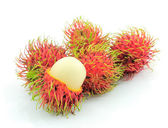 Rambutan on white background — Stock Photo