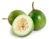 Passionfruit on white background — Stock Photo