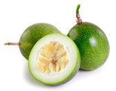 Passionfruit on white background — Stock Photo