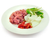 Prepare fried pork thai food — Stock Photo