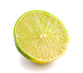 Slice of fresh lemon isolated on white background — Stock Photo