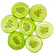Abstract green kiwi fruit — Stock Photo #33965097