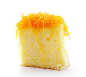 Thai dessert,foy thong cake — Stock Photo