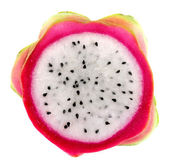 Close up Dragon Fruit on white background — Stock Photo