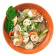 Thai Food Shrimp soup with mushrooms (Tom Yum Goong) — Stock Photo