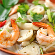 Stock Photo: Thai Food Shrimp soup with mushrooms (Tom Yum Goong)
