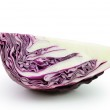 Sliced red cabbage isolated on white background — Stock Photo #36306523