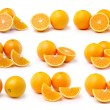 Orange fruit isolated on white background — Stock Photo