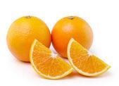 Arancio frutto isolato su sfondo bianco — Foto Stock