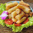 Stock Photo: Fried Chinese Traditional Spring rolls food