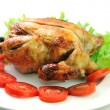 Roasted chicken and vegetables — Foto Stock