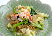 Noodles with prawns — Stock Photo