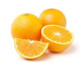 Oranžové plody izolovaných na bílém pozadí — Stock fotografie