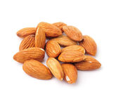 Almond nuts isolated on white background — Stock Photo