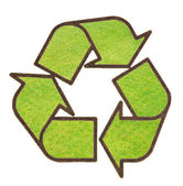 Recycle sign from grass — Stock Photo