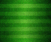 Green lined football or soccer field — Stock Photo