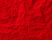 Red Crumpled Paper Texture — Stock Photo