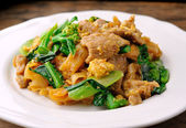 Stir Fried Rice Noodle with pork — Stock Photo