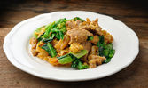Stir Fried Rice Noodle with pork — Stock Photo