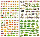 Fruit and Vegetables collection isolated on white background — Stock Photo