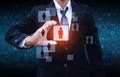 Businessman Choosing the right person — Stock Photo