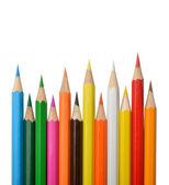 Crayons colorés isolés sur fond blanc — Photo