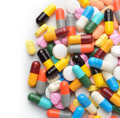 Pills and capsules — Stock Photo
