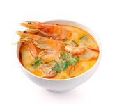 Tom Yam Kung (Thai cuisine) isolated on white background — Stock Photo