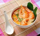 Tom Yam Kung (Thai cuisine) — Stock Photo