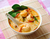 Tom Yam Kung soup (Thai cuisine) — Stock Photo