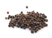 Black peppercorn isolated on white background — Stock Photo