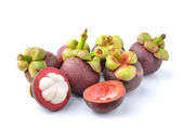 Mangosteen isolated on white background — Stock Photo