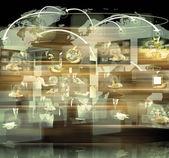 Televizyon ve internet üretim .technology ve iş konsantrasyon — Stok fotoğraf